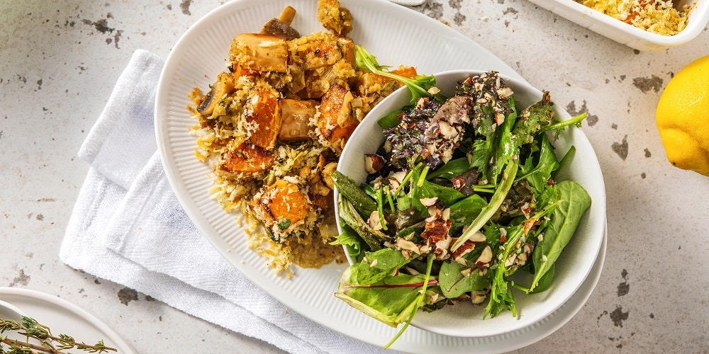 Vegetable and sage gratin