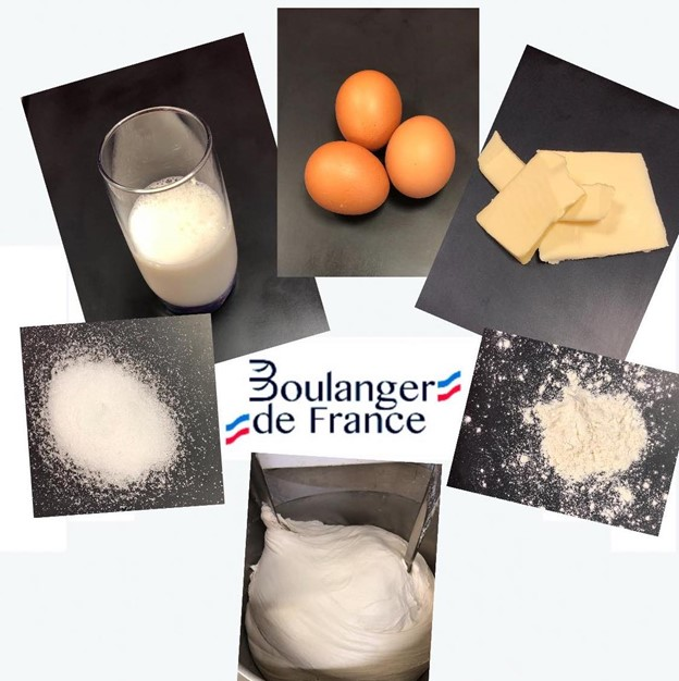 Ingredients to make French bread