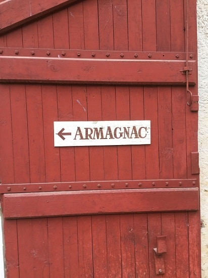Armagnac cellar door