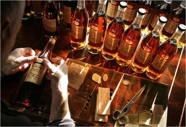 brandy in bottles