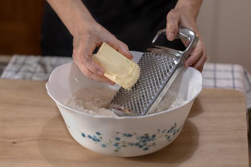 Grating butter