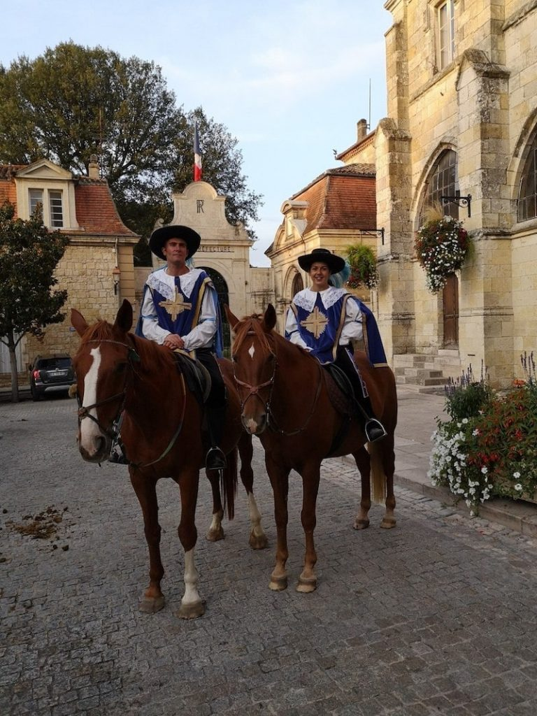 At the Grand Chapitre in Condom each September, the musketeers on horses welcome guests