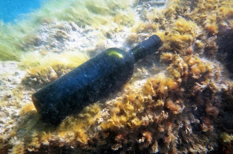 Wine under water